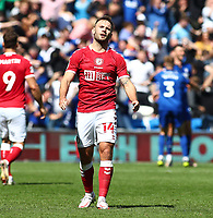 28th August 2021; Cardiff City Stadium, Cardiff, Wales;  EFL Championship football, Cardiff versus Bristol City; Andreas Weimann of Bristol City looks dejected after Kieffer Moore of Cardiff City scores the equalizer to make it 1-1 in the second half