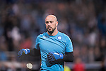 Goalkeeper Pepe Reina of SSC Napoli before the match Real Madrid vs Napoli, part of the 2016-17 UEFA Champions League Round of 16 at the Santiago Bernabeu Stadium on 15 February 2017 in Madrid, Spain. Photo by Diego Gonzalez Souto / Power Sport Images