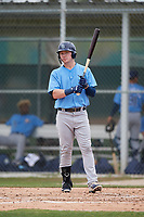Tampa Bay Rays Grant Witherspoon (33) bats during a Minor League Spring Training game against the Baltimore Orioles on March 16, 2019 at the Buck O'Neil Baseball Complex in Sarasota, Florida.  (Mike Janes/Four Seam Images)