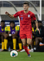 NASHVILLE, TN - JULY 3: Christian Pulisic #10 during a game between Jamaica and USMNT at Nissan Stadium on July 3, 2019 in Nashville, Tennessee.