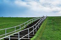 Mount Trashmore Park,  a city park based on landfill reuse, Virginia Beach, Virginia, USA
