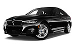 Stock pictures of low aggressive front three quarter view of 2018 BMW 3 Series 330i GT M Sport 5 Door Hatchback