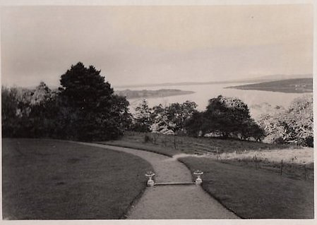 The driveway to the Henn family's Paradise House, with the Fergus and Shannon Estuaries beyond