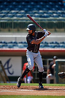 Jupiter Hammerheads designated hitter Tristan Pompey (6) during a Florida State League game against the Florida Fire Frogs on April 11, 2019 at Osceola County Stadium in Kissimmee, Florida.  Jupiter defeated Florida 2-0.  (Mike Janes/Four Seam Images)
