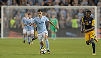 Kansas City, KS - Wednesday September 20, 2017: Dániel Sallói during the 2017 U.S. Open Cup Final Championship game between Sporting Kansas City and the New York Red Bulls at Children's Mercy Park.