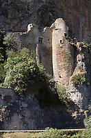 Europe/France/Midi-Pyrénées/46/Lot/ Cabrerets: le Château du Diable