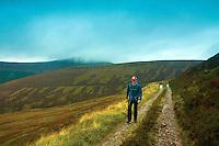 Ascending towards Meall an Uilt Chreagaich above Glen Feshie, Cairngorm National Park