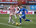 07.02.2021 Hamilton v Rangers: Ryan Kent takes on Aaron Martin