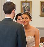 Alicia & Matt exchange vows.
