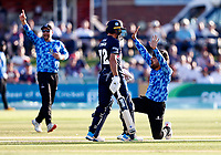 Rashid Kahn of Sussex appeals unsuccessfully for an LBW during Kent Spitfires vs Sussex Sharks, Vitality Blast T20 Cricket at The Spitfire Ground on 18th July 2021