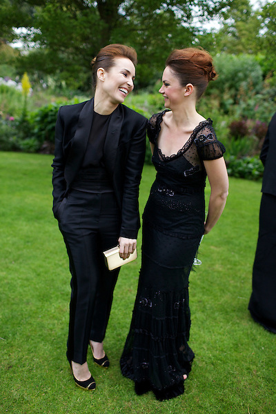 Noomi Rapace and Ruth Wilson at Elton John's White Tie and Tiara Ball