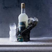 Europe/Pologne/ Env Bialystock/ Distillerie Polmos: Vodka Zubrowka, vodka distillée à partir de seigle  aromatisée à l' herbe de bison - Stylisme : Valérie LHOMME