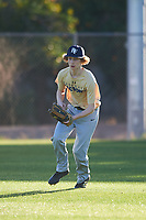 Chase Stewart (44), from Richland, Washington, while playing for the Brewers during the Under Armour Baseball Factory Recruiting Classic at Gene Autry Park on December 27, 2017 in Mesa, Arizona. (Zachary Lucy/Four Seam Images)
