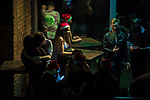 """© Joel Goodman - 07973 332324 . 16/12/2017. Manchester, UK. People socialise at a club on Deansgate Locks . Revellers out in Manchester City Centre overnight during """" Mad Friday """" , named for historically being one of the busiest nights of the year for the emergency services in the UK . Photo credit : Joel Goodman"""