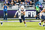 West Virginia Mountaineers quarterback Skyler Howard (3) in action during the game between the  West Virginia and the TCU Horned Frogs at the Amon G. Carter Stadium in Fort Worth, Texas.