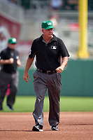 Umpire Tim Timmons during a Major League Spring Training game between the Minnesota Twins and Boston Red Sox on March 17, 2021 at JetBlue Park in Fort Myers, Florida.  (Mike Janes/Four Seam Images)