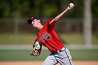 Riley Bishop during the WWBA World Championship at the Roger Dean Complex on October 21, 2018 in Jupiter, Florida.  Riley Bishop is a left handed pitcher from Lawrenceville, Georgia who attends Grayson High School and is committed to Kennesaw State.  (Mike Janes/Four Seam Images)