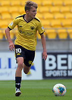Wellington Phoenix's Benjamin Old during the ISPS Handa Premiership football match between Wellington Phoenix Reserves and Southern United at Sky Stadium in Wellington, New Zealand on Saturday, 11 January 2020. Photo: Dave Lintott / lintottphoto.co.nz