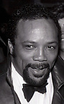 Quincy Jones attending a performance of 'Dreamgirls' at the Imperial Theatre on December 1, 1981 in New York City.
