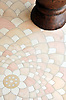 Ever Expanding Lotus in Ivory Cream, Rosa Portagallo, Jerusalem Gold.<br /> -Tucker Robbins for New Ravenna Mosaics