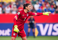 Edmonton, Canada - June 22, 2015:  The USWNT defeated Colombia 2-0 during their round of 16 game in the FIFA Women's World Cup at Commonwealth Stadium.