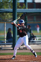 Brenden Murray (16) of Pioneer High School in West Sacramento, California during the Baseball Factory All-America Pre-Season Tournament, powered by Under Armour, on January 13, 2018 at Sloan Park Complex in Mesa, Arizona.  (Mike Janes/Four Seam Images)