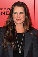 """NEW YORK, NY - NOVEMBER 20: Brooke Shields at the New York Premiere Of Lionsgate's """"The Hunger Games: Catching Fire"""" held at AMC Lincoln Square Theater on November 20, 2013 in New York City. (Photo by Jeffery Duran/Celebrity Monitor)"""