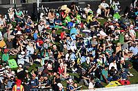 20th December 2020; Hamilton, New Zealand;  Fans watch the action, <br /> New Zealand Black Caps versus Pakistan, International Twenty20 Cricket. Seddon Park, Hamilton, New Zealand.