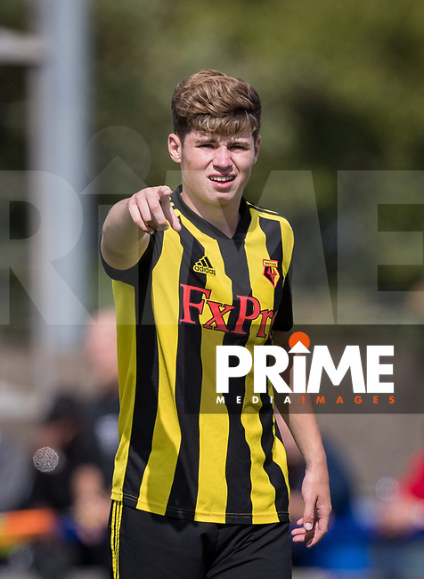 Ryan Cassisdy of Watford during the Professonal Development League match between Watford U23 and Sheffield United U23 at The Maurice Rebak Stadium, Summers Lane, England on 17 August 2018. Photo by Andy Rowland.