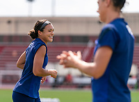 HOUSTON, TX - JUNE 12: Sophia Smith #2 of the USWNT warms up during a training session at University of Houston on June 12, 2021 in Houston, Texas.