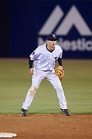Tampa Yankees second baseman Nick Solak (39) during a game against the Lakeland Flying Tigers on April 7, 2017 at George M. Steinbrenner Field in Tampa, Florida.  Lakeland defeated Tampa 5-0.  (Mike Janes/Four Seam Images)