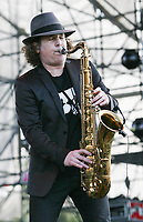 MIAMI GARDENS, FL - MARCH 15: Boney Jamesperforms onstage during Day 1 of Jazz In The Gardens at Sun Life Stadium on March 15, 2014 in Miami Gardens, Florida.<br /> <br /> People:  Boney James