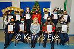 Students of Presentation Secondary School Tralee receiving their Junior Cycle Certificates on Friday at the school. Seated l to r: Salma Hassan, James Akinrinlade, Chrissie Kelly (Principal), Eva Fogadic and Siena Lucey. Back l to r: Emaan Menon, Kaitlin Trant, Yvonne Hurley, Sheila O'Connor (Vice Principal), Ellie Mason, Ciara Walsh and Shona O'Connor