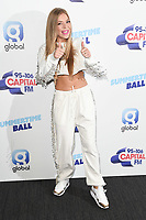 Becky Hill<br /> poses on the media line before performing at the Summertime Ball 2019 at Wembley Arena, London<br /> <br /> ©Ash Knotek  D3506  08/06/2019