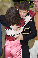 """Maisie Williams and Eddie Redmayne<br /> arriving for the """"Early Man"""" world premiere at the IMAX, South Bank, London<br /> <br /> <br /> ©Ash Knotek  D3369  14/01/2018"""