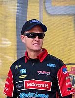 Sep 15, 2019; Mohnton, PA, USA; NHRA funny car driver Bob Tasca III during the Reading Nationals at Maple Grove Raceway. Mandatory Credit: Mark J. Rebilas-USA TODAY Sports