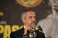 Montreal, CANADA, Marc 11, 2015.<br /> <br /> Russ Anber attend the<br />  news conference about their upcoming  Kovalev- Pascal fight on March 14, 2015 at the Bell Centre in Montreal.