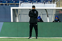 FOXBOROUGH, MA - NOVEMBER 20: Montreal Impact coach Thierry Henry watches the action during the Audi 2020 MLS Cup Playoffs, Eastern Conference Play-In Round game between Montreal Impact and New England Revolution at Gillette Stadium on November 20, 2020 in Foxborough, Massachusetts.(Photo by Andrew Katsampes/ISI Photos/Getty Images).