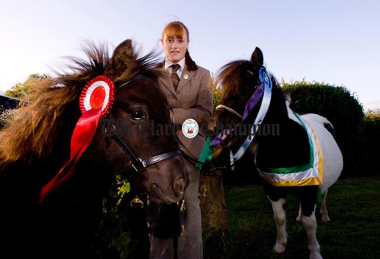 Andrea Carey Shetland Ponies.Pic Arthur Ellis.