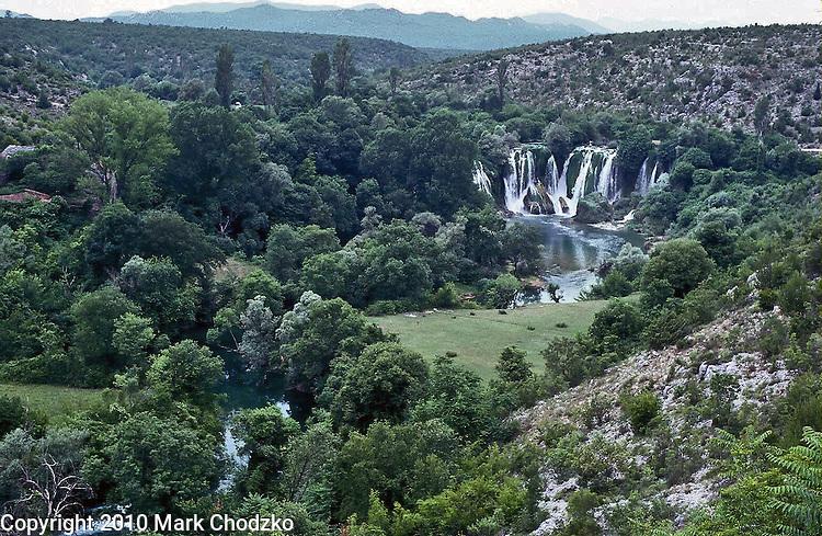 Waterfalls just outside Medjugorje, Bosnia.