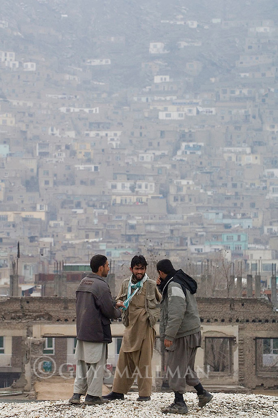 Russian Cultural Palace Kabul. The building was destroyed by the Mujahadeen during the Afghan civil war. Hundreds of people use the building to smoke and inject heroin. The Welfare Association for the Development of Afghanistan (WADAN) has reclaimed part of the building and turned it into a rehabilitation clinic. Drug users on the roof of the building.