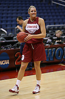 SAN ANTONIO, TX - APRIL 4:  Jayne Appel at practice on April 4, 2010 at the Alamo Dome in San Antonio, Texas.