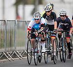 Marie-Eve Croteau, Rio 2016 - Para Cycling // Paracyclisme. <br /> Marie-Eve Croteau competes in the Women's Cycling Road T1-2 Race // Marie-Eve Croteau participent à la course cycliste féminine T1-2 sur route. 16/09/2016.