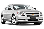 Low aggressive passenger side front three quarter view of a 2012 Chevrolet Malibu 1LS .