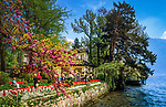 Schweiz, Tessin, Lugano: im Stadtpark (Parco Ciani) am Luganersee | Switzerland, Ticino, Lugano: Parco Ciani and Lago Lugano