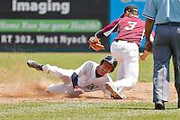 NY State Section 1 Class B HS baseball Championship:  Keio Academy Unicorns vs Albertus Magnus Falcons HS baseball at Provident Bank Park, Pomona, NY on Saturday, May 30, 2015.  Albertus Magnus defeated Keio Academy 3 - 2 in 14 innings.