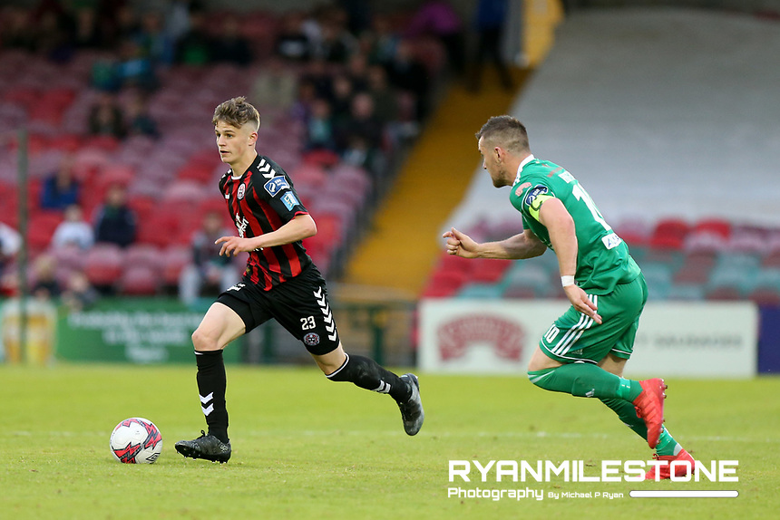 Paddy Kirk of Bohemians in action against Steven Beattie of Cork during the SSE Airtricity League Premier Division game between Cork City and Bohemians on Friday 15th June 2018 at Turners Cross, Cork. Photo By Michael P Ryan