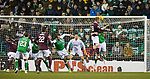 03.03.2020 Hibs v Hearts: Liam Bioyce with a free header which goes wide