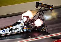 Jul 20, 2019; Morrison, CO, USA; NHRA top fuel driver Austin Prock during qualifying for the Mile High Nationals at Bandimere Speedway. Mandatory Credit: Mark J. Rebilas-USA TODAY Sports