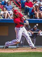 11 March 2014: Washington Nationals outfielder Jayson Werth in action during a Spring Training game against the New York Yankees at Space Coast Stadium in Viera, Florida. The Nationals defeated the Yankees 3-2 in Grapefruit League play. Mandatory Credit: Ed Wolfstein Photo *** RAW (NEF) Image File Available ***